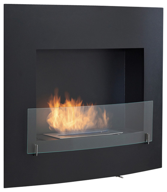 Wynn Wall Mounted Ventless Bio Ethanol Fireplace Modern