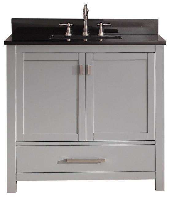 avanity modero grey vanity combo contemporary bathroom