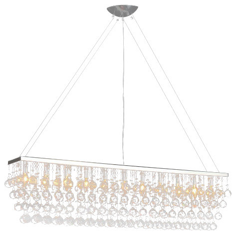 Chandelier With Crystal Modern Rain Drop Billiard Pool Table Light Traditio
