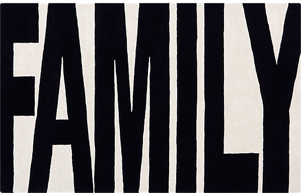 Family Black And White Rug Modern Rugs By Cb2