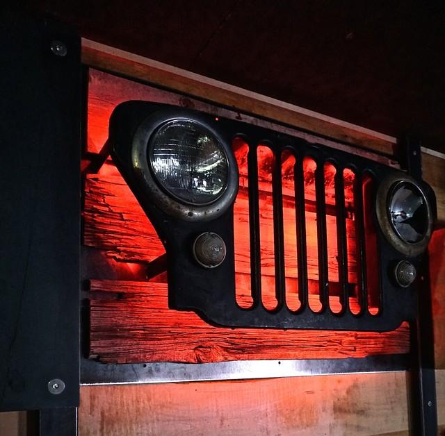 Vintage Jeep Bar Lights Modern Game Room Wall Art And