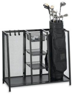 metal two bag golf organizer contemporary closet