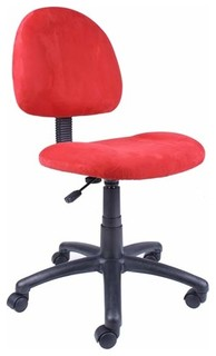red microfiber task chair modern office chairs by bellacor