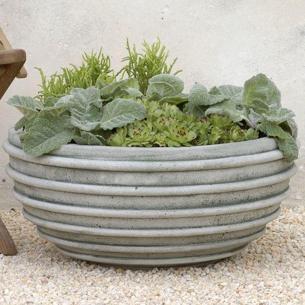 Tuscon large planter contemporary outdoor pots and for Contemporary garden planters