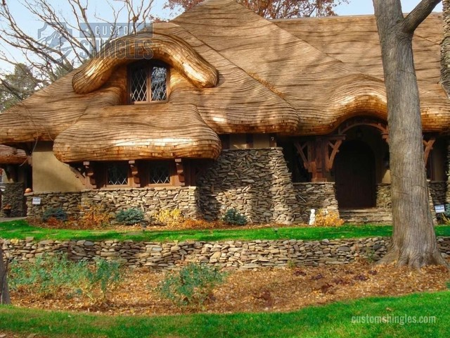 False Thatched Roof Eclectic Exterior Minneapolis   How To Make A Thatch  Roof .
