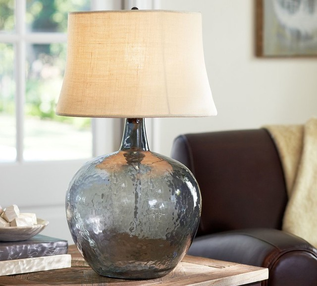 clift glass table lamp base smoke gray traditional lamp bases. Black Bedroom Furniture Sets. Home Design Ideas
