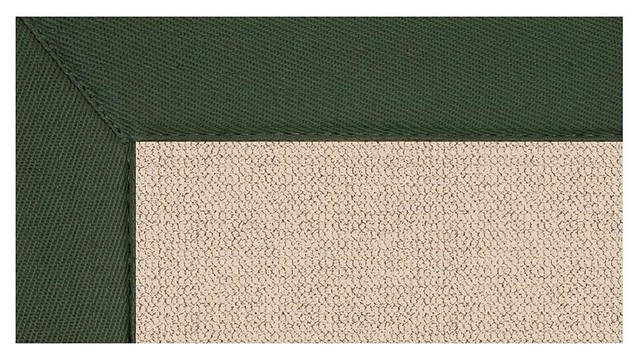 Color Trim Rug In Tufted Wool
