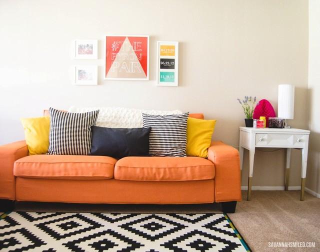 bold kivik in kino orange slipcovers modern slipcovers. Black Bedroom Furniture Sets. Home Design Ideas