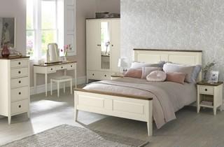 Bentley Designs Sophia Two Tone Bedroom Set Contemporary Bedroom Furnitur