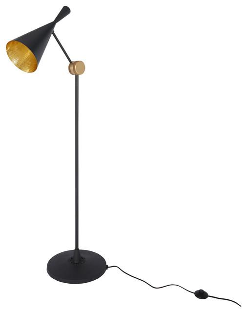 Beat Floor Lamp Black Tom Dixon Modern Floor Lamps