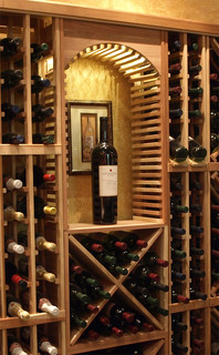 Small Decorative Cellar Arch Traditional Wine Racks
