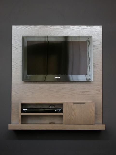 Backdrop Wall Mounted Media Console - Narrow - Modern - Entertainment ...