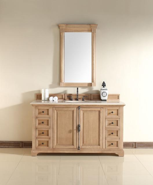 60 Inch Providence Natural Oak Single Sink Vanity Rustic Bathroom Vanity Unit