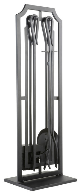 style selections 5 piece mitchell metal fireplace tool set