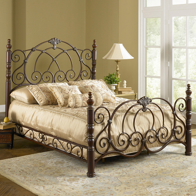Strathmore Metal Bed - Mediterranean - Beds - atlanta - by Iron Accents