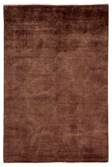 Ziegler Wool Area Rug Brown 6x9 Transitional Area