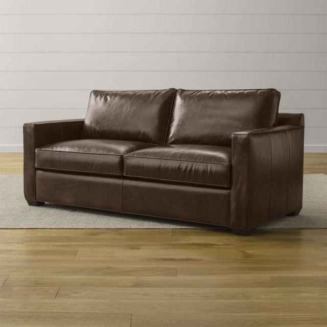 Davis Leather Queen Sleeper Sofa Contemporary Sofas