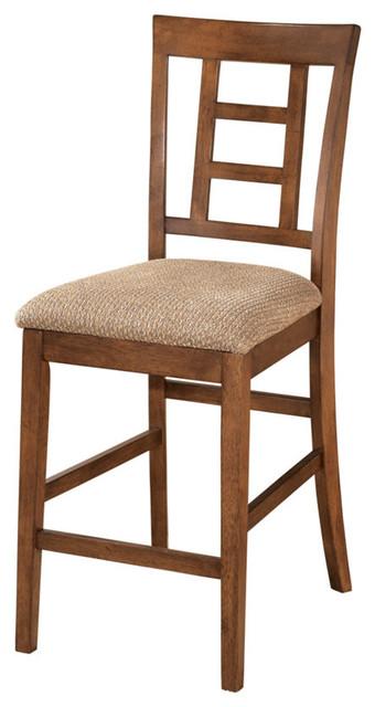 Ashley Cross Island Medium Brown Upholstered Barstools