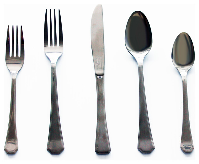 Everyday 20 Piece Flatware Set Contemporary Flatware And Silverware Sets By Berghoff