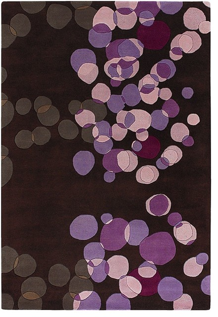 Contemporary avalisa 5 39 x7 39 6 rectangle brown purple area for Purple area rugs contemporary
