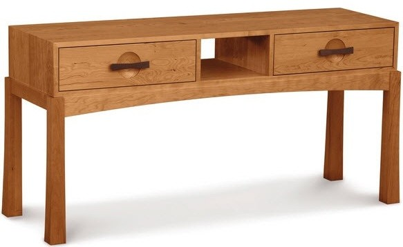 Berkeley sofa table natural cherry water based top for Arts and crafts sofa table