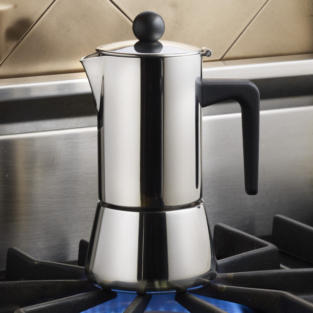 Bonjour Coffee Stainless Steel 4 Cup Stovetop Espresso
