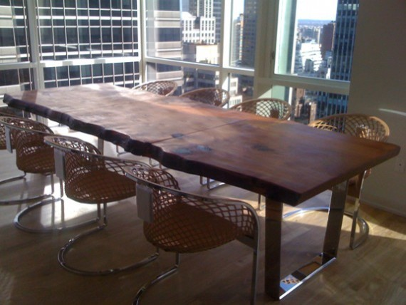 Redwood Slab Dining Table Eclectic Dining Tables