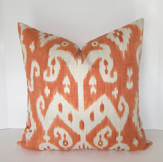 Decorative Designer Ikat Pillow Cover By Loubella1 - Eclectic - Decorative Pillows - by Etsy