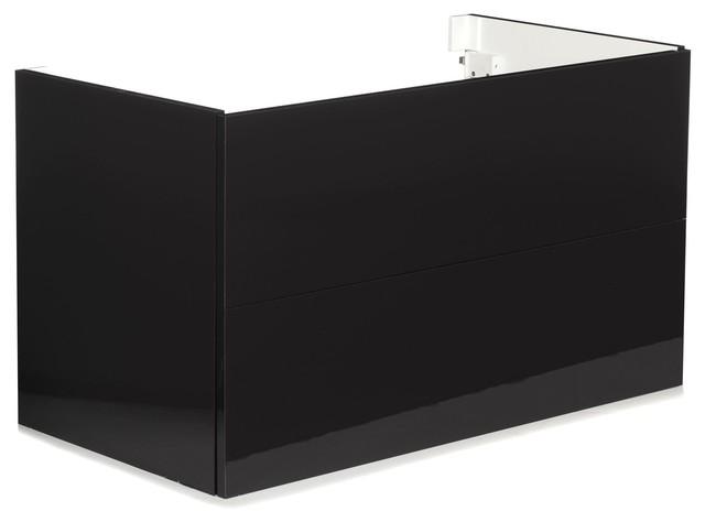 luxy meuble sous vasque noir de salle de bains 90cm moderne console et meuble sous lavabo. Black Bedroom Furniture Sets. Home Design Ideas