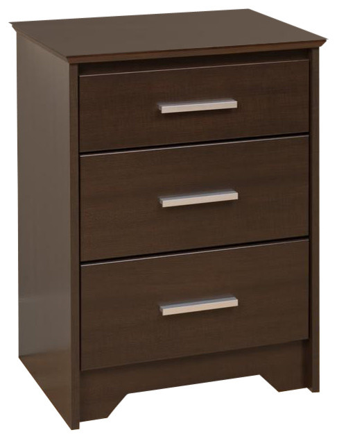 20 5 in tall nightstand with 3 drawers contemporary for Tall modern nightstands