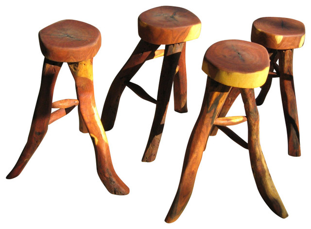 Texas rustic wood bar stool set outdoor bar stools and counter stools by texas rustic wood Rustic outdoor bar stools