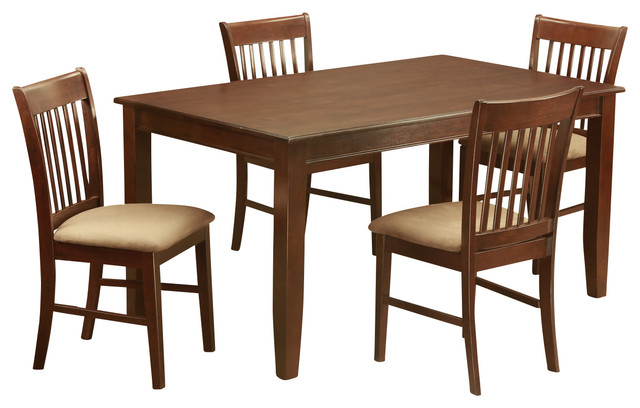 5 piece formal dining room set dinette table and 4 dinette