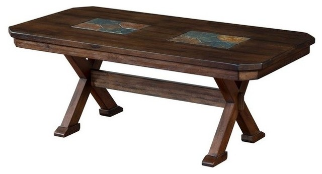 Savanah Coffee Table With Slate Inlay Southwestern Coffee Tables By Buynowornever