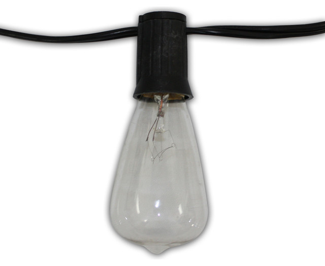Edison Vintage 48 , 24 Lights With Clear Antique Bulbs - Modern - Outdoor Rope And String Lights ...
