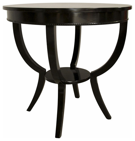Noir Furniture Scheffield Side Table In Black Gtab223 Black Transitional Side Tables