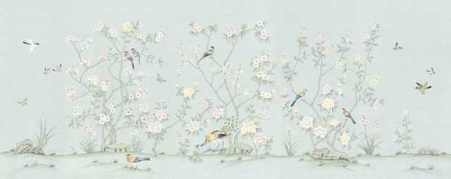 Chinoiserie wall mural collingwood full size asian for Asian mural wallpaper
