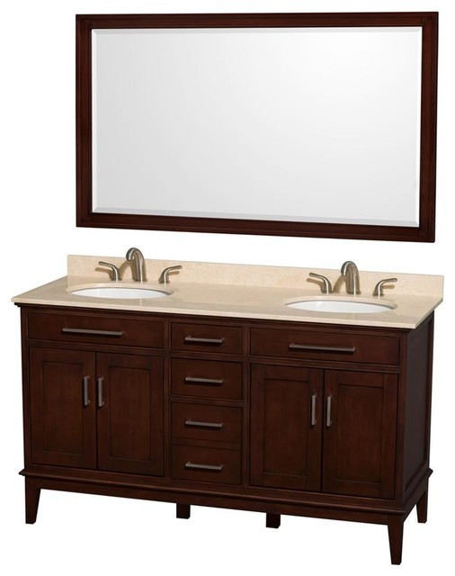 Eco friendly double sink vanity with mirror transitional - Eco friendly bathroom sinks ...