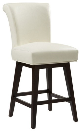 Roll Back Swivel Stool Ivory Bar Height Traditional  : traditional bar stools and counter stools from houzz.com size 330 x 540 jpeg 20kB