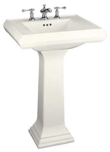 Kohler Memoirs Pedestal Sink Traditional Bathroom Sinks Other Metro By The Home Depot