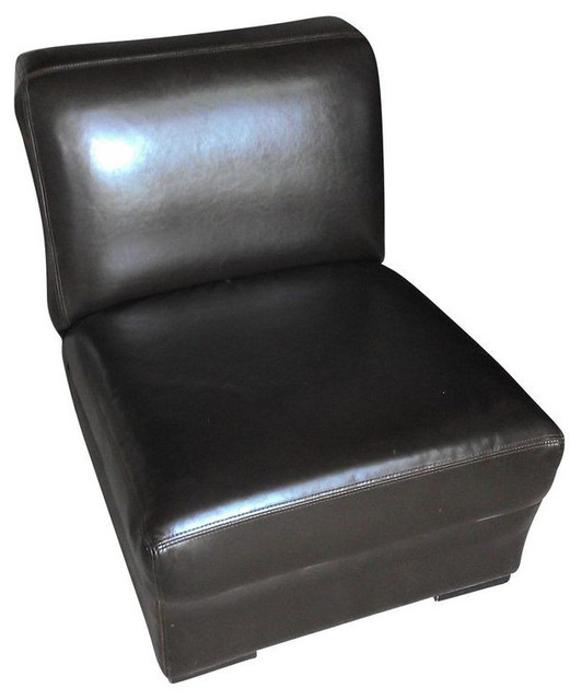 Brown Leather Slipper Chair $600 Est Retail $350 on