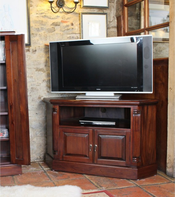 La roque corner television cabinet contemporary tv stands units other by - Corner tele ...