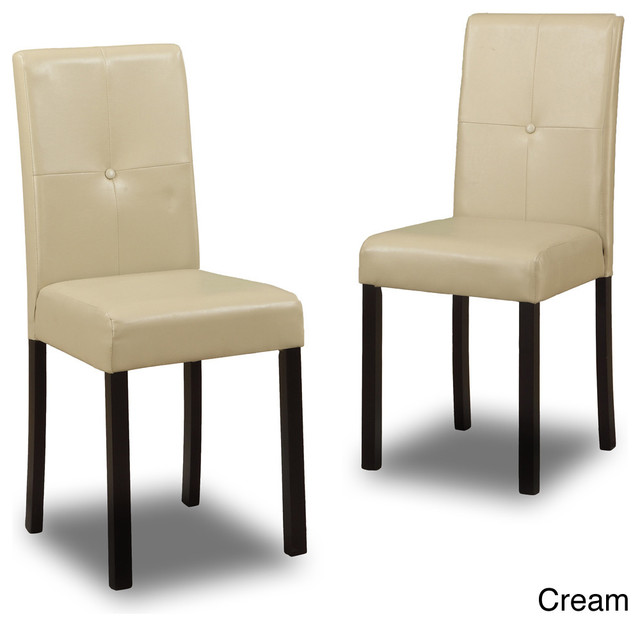 baxton studio asher modern dining chairs set of 2