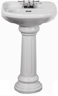 Barclay Vicki White Pedestal Sink | Lowes - Traditional - Bathroom Sinks - by Lowe's