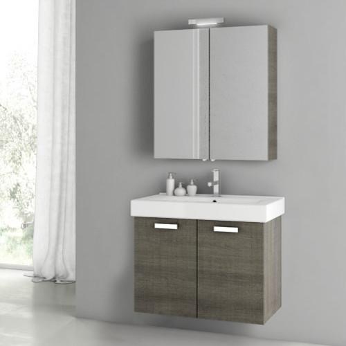 30 Inch Grey Oak Bathroom Vanity Set Contemporary Bathroom Vanities And Sink Consoles By