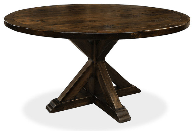 seth recycled wooden round dining table rustic dining tables by