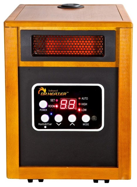 Portable Space Heater With Humidifier Wood Transitional