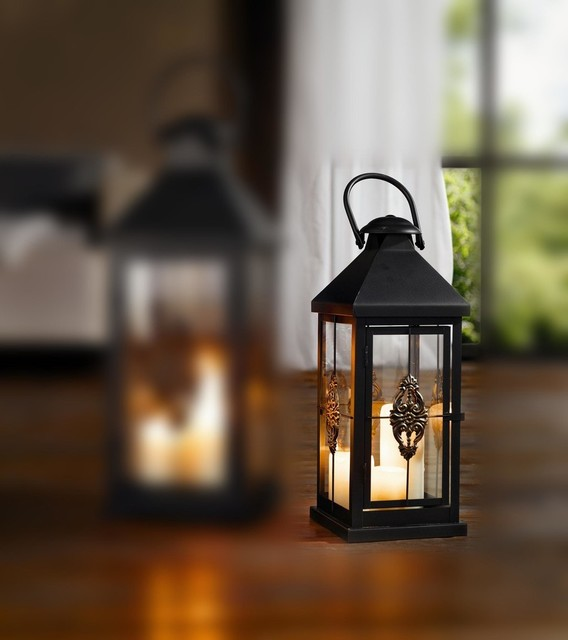 European-Style Hanging Candle Lantern Traditional-outdoor