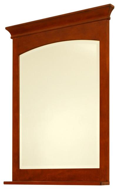 Expressions 30 framed beveled mirror craftsman for Craftsman mirrors bathroom