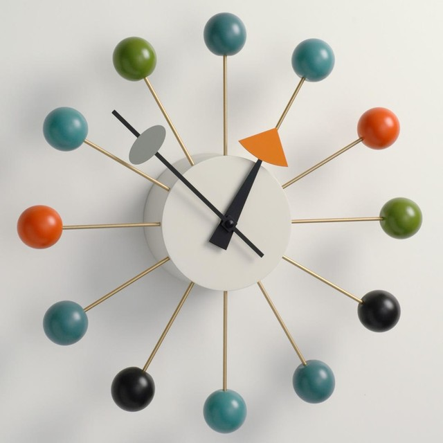 George Nelson Ball Clock Multi-Color by Vitra - Midcentury - Clocks - san francisco - by ...
