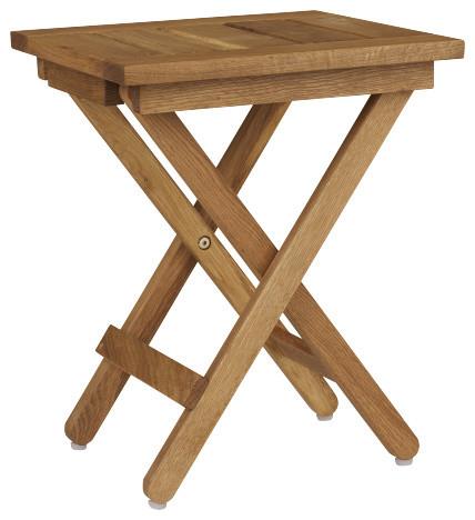 Zeno tabouret pliant en ch ne massif moderne chaise for Chaise pliante habitat